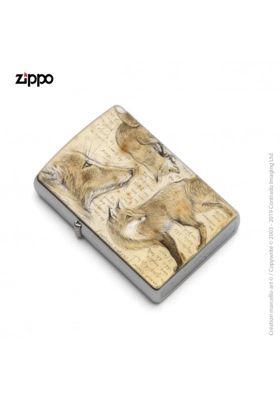 Marcello-art : Accessoires de décoration Zippo 336 renard roux