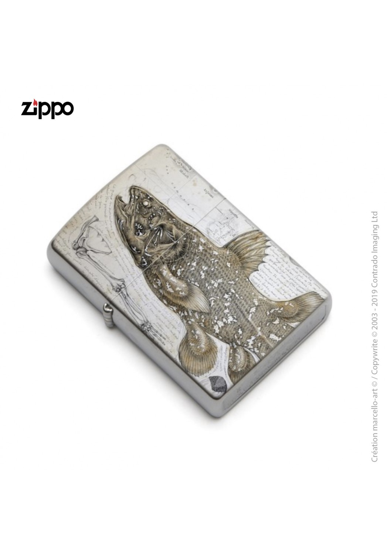 Marcello-art: Decoration accessoiries Zippo 346 Latimeria chalumnae