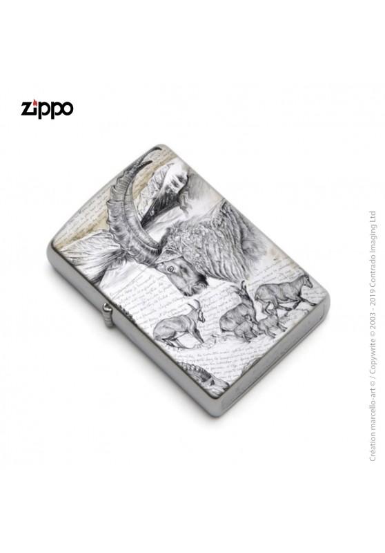 Marcello-art : Accessoires de décoration Zippo 348 bouquetin