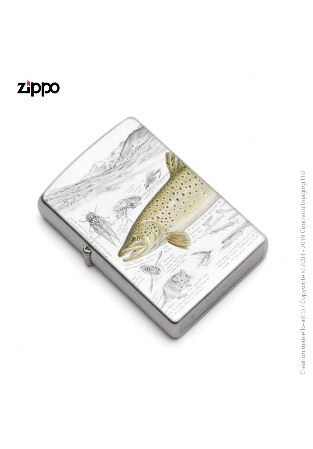 Marcello-art: Decoration accessoiries Zippo 372 brown trout