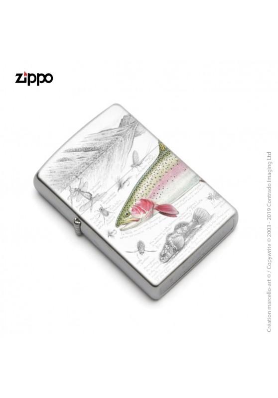 Marcello-art : Accessoires de décoration Zippo 373 truite arc-en-ciel