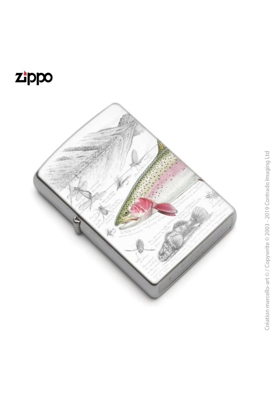 Marcello-art: Decoration accessoiries Zippo 373 rainbow trout
