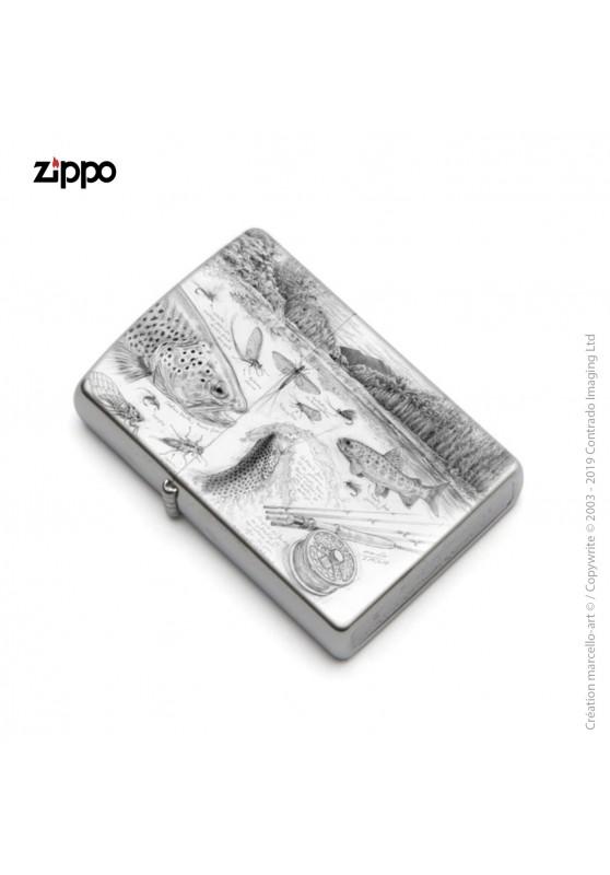 Marcello-art : Accessoires de décoration Zippo 374 A pêche à la mouche NZ
