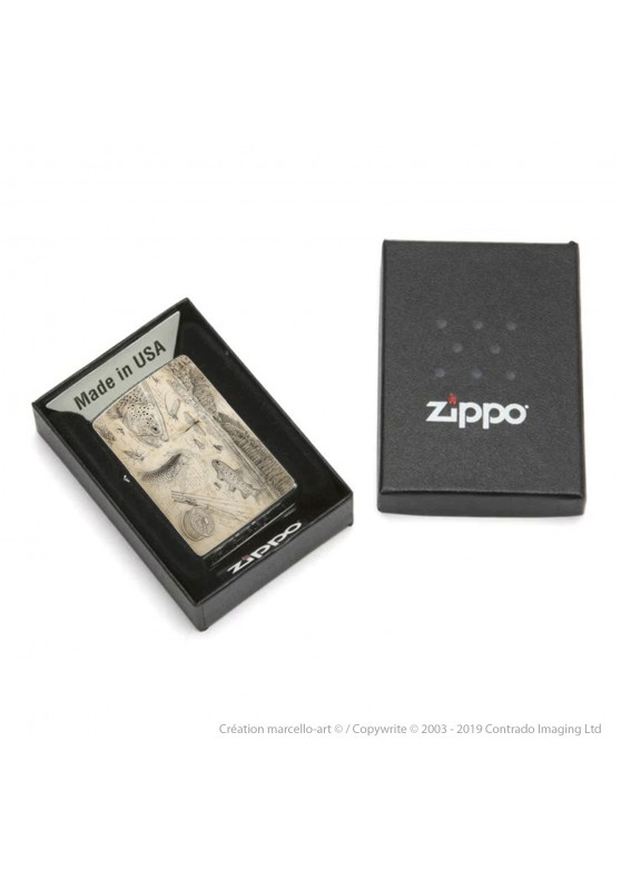 Marcello-art: Decoration accessoiries Zippo 374 B flyfishing NZ