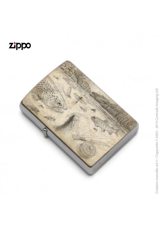Marcello-art : Accessoires de décoration Zippo 374 B pêche à la mouche NZ