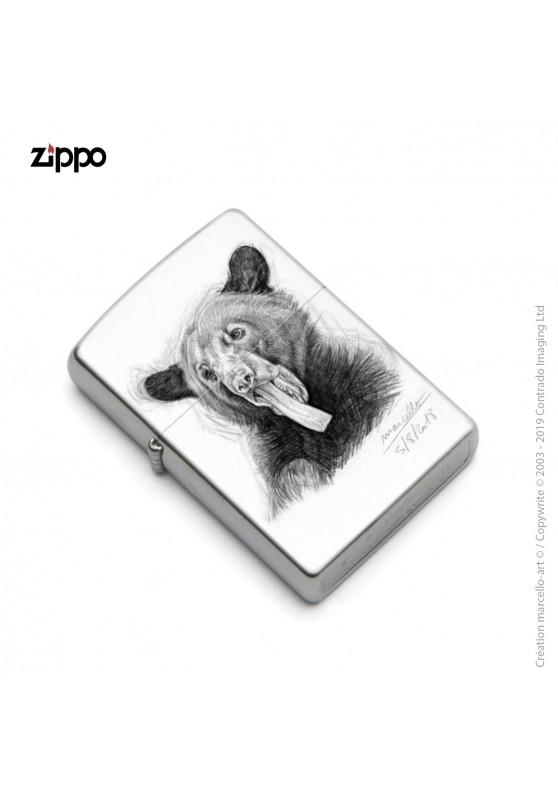 Marcello-art : Accessoires de décoration Zippo 382 langue ours noir
