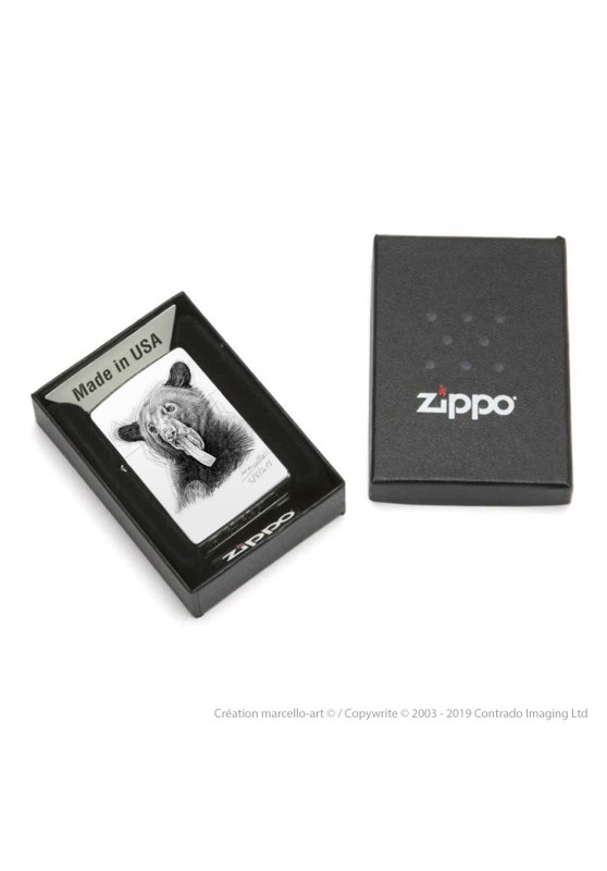 Marcello-art: Decoration accessoiries Zippo 382 black bear tongue