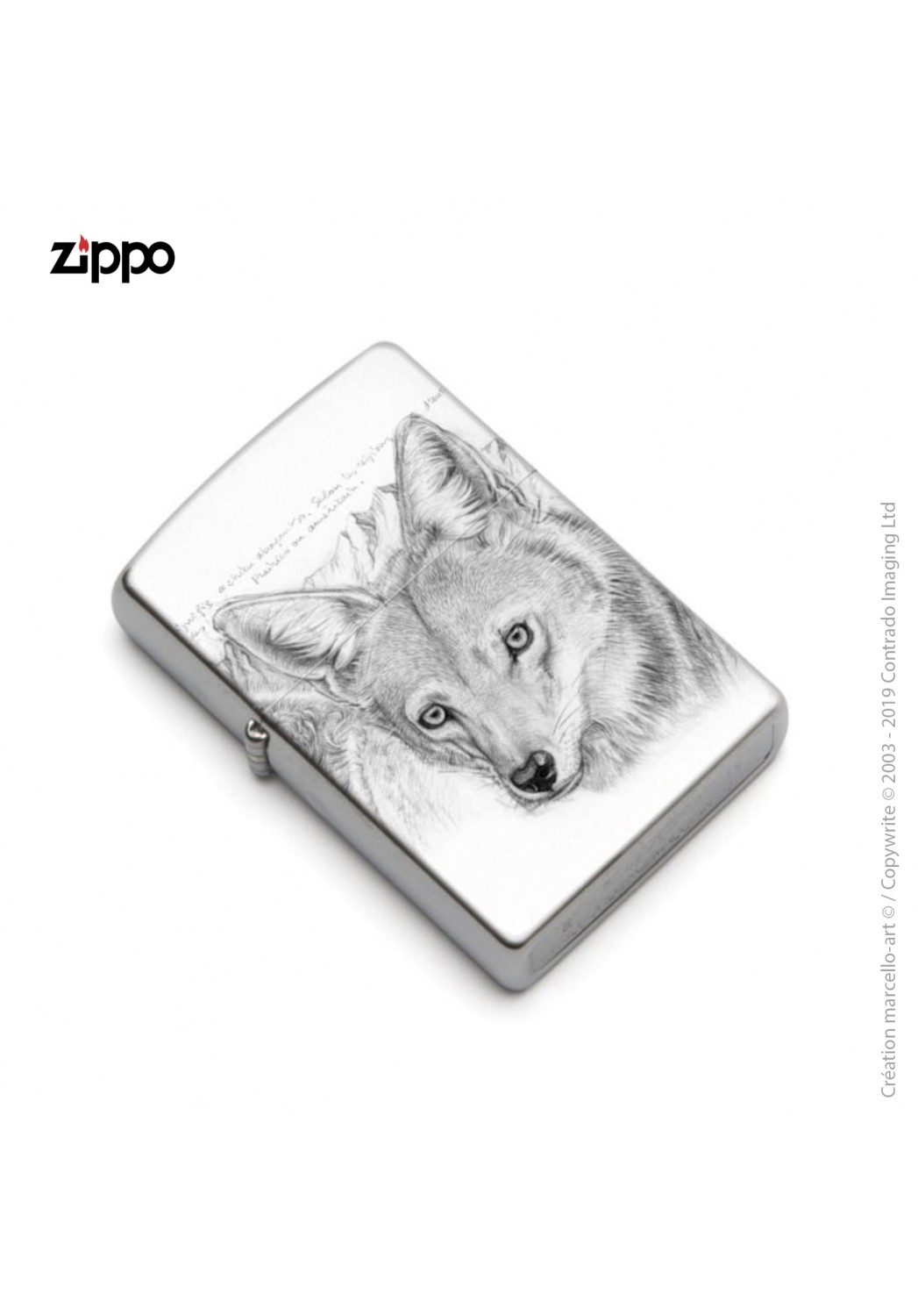 Marcello-art: Decoration accessoiries Zippo 391 coyote