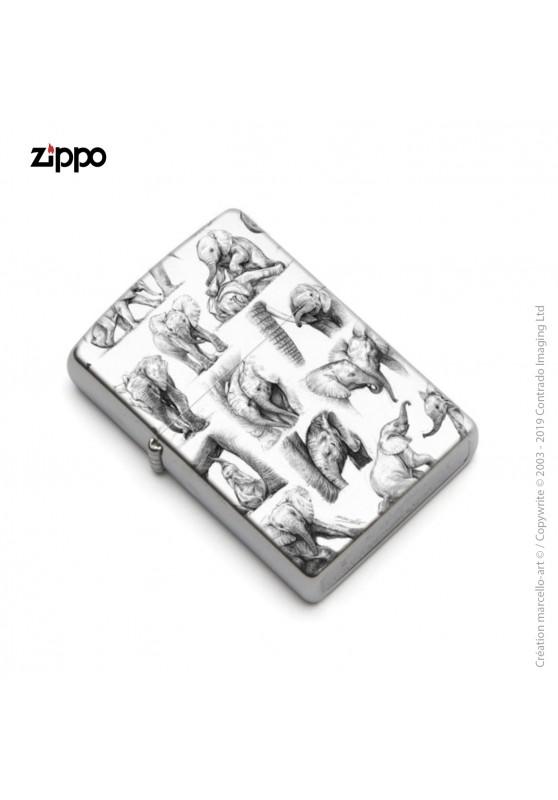 Marcello-art : Accessoires de décoration Zippo 392 éléphanteaux