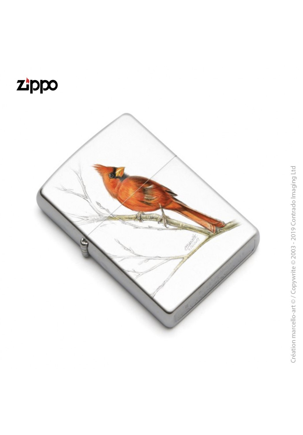 Marcello-art: Decoration accessoiries Zippo 393 cardinal