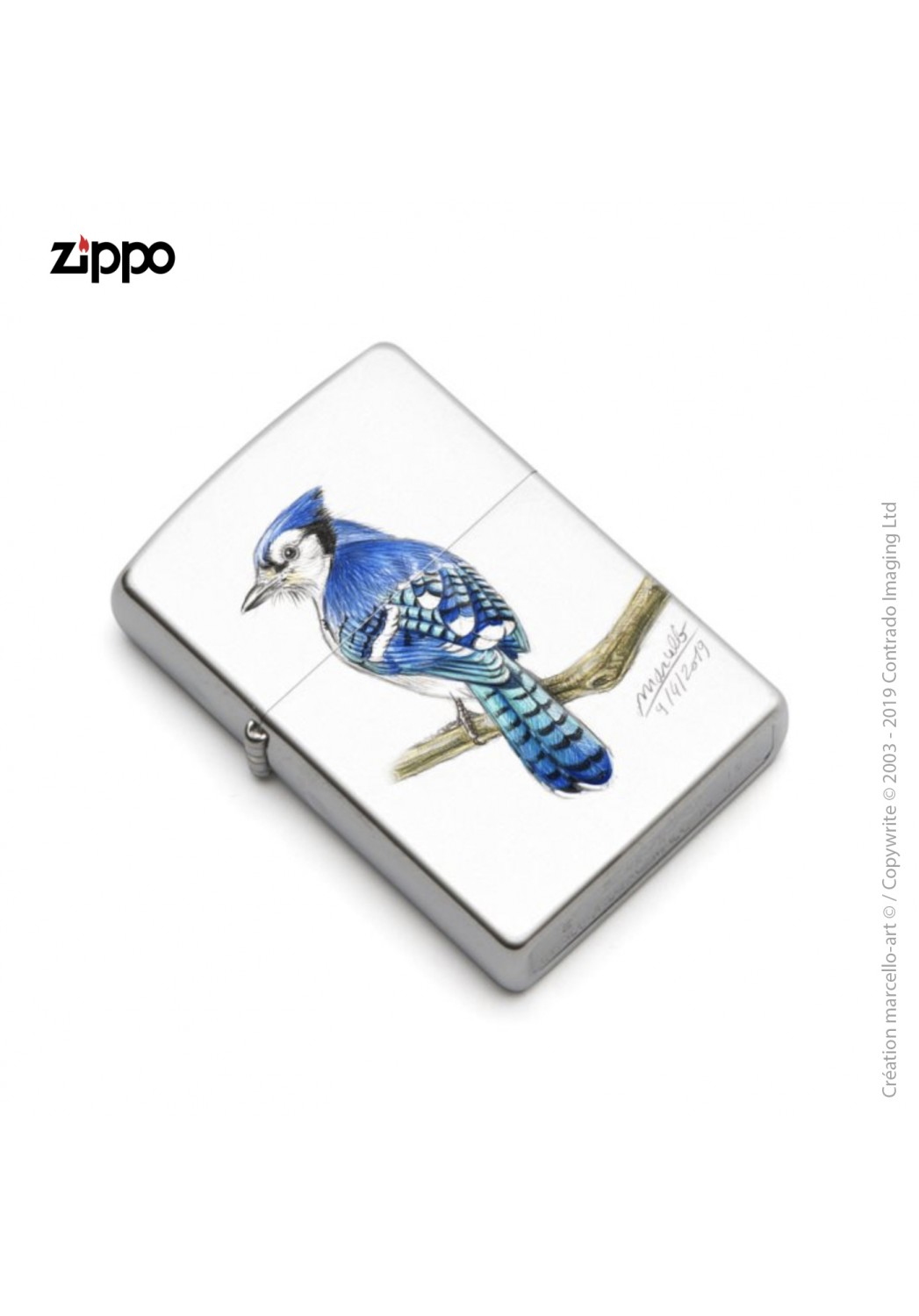 Marcello-art: Decoration accessoiries Zippo 393 blue jay