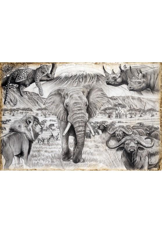 Marcello-art : Œuvres originales 400 - Lost Africa