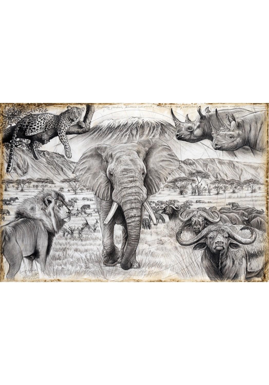 Marcello-art: Originals works 400 - Lost Africa