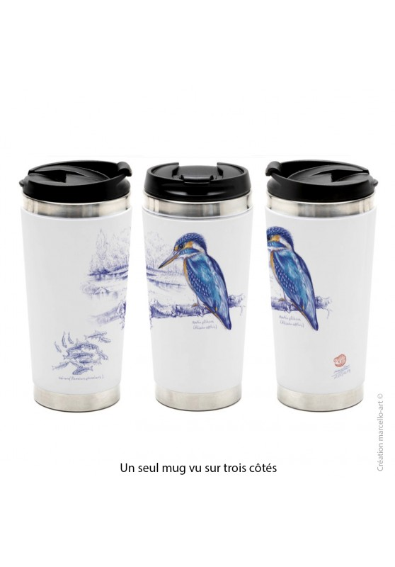 Marcello-art: Decoration accessoiries Thermos mug 398 European Kingfisher