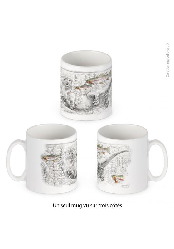 Marcello-art : Accessoires de décoration Mug porcelaine 393 loutre