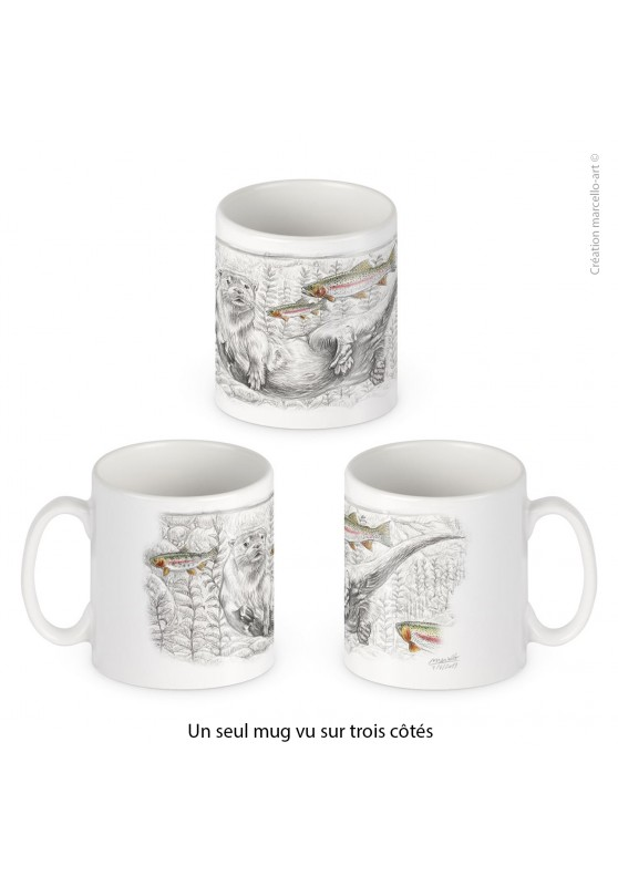 Marcello-art: Decoration accessoiries Porcelain mug 393 otter