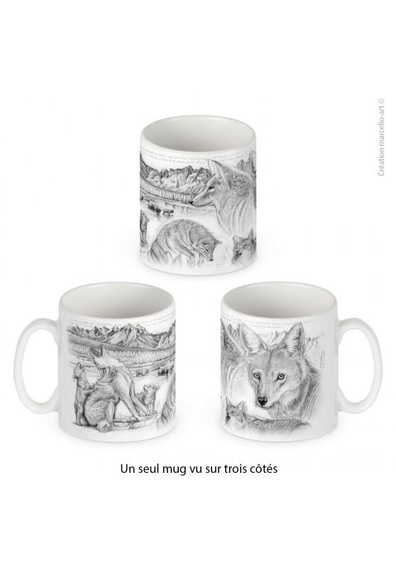 Marcello-art : Accessoires de décoration Mug porcelaine 391 coyote