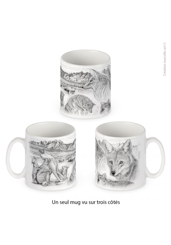 Marcello-art: Decoration accessoiries Porcelain mug 391 coyote