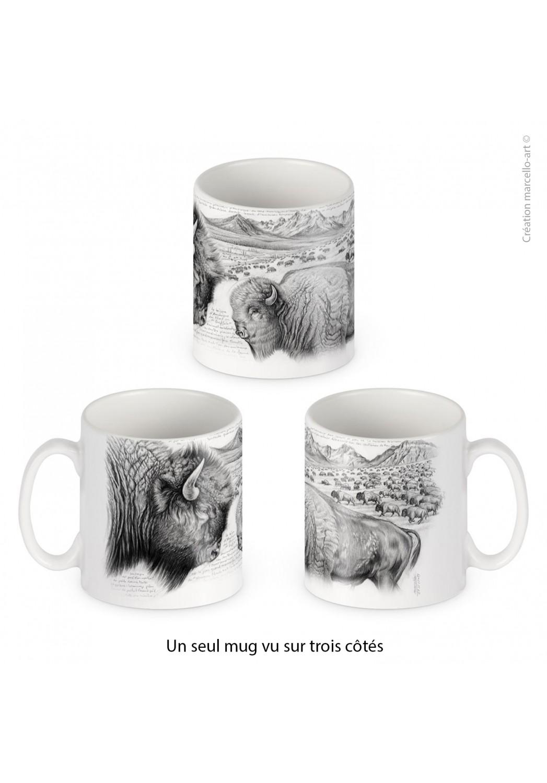 Marcello-art : Accessoires de décoration Mug porcelaine 390 bison