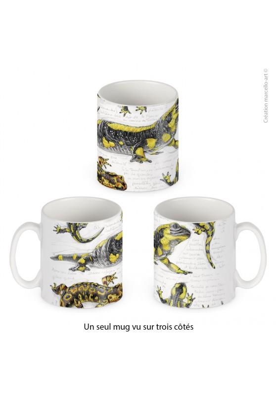 Marcello-art : Accessoires de décoration Mug porcelaine 383 salamandre