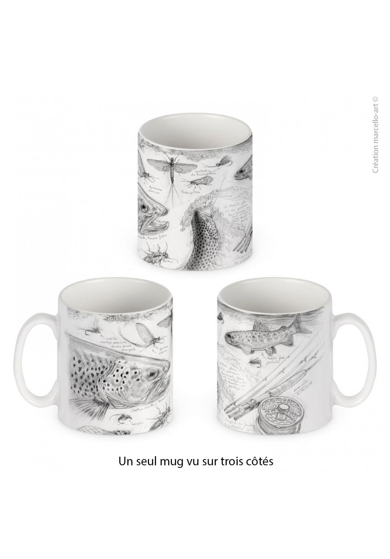 Marcello-art : Accessoires de décoration Mug porcelaine 374 pêche à la mouche NZ