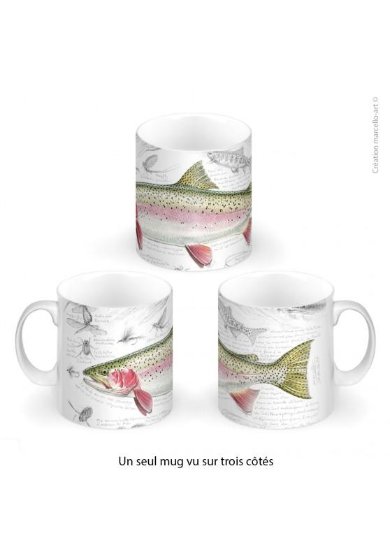 Marcello-art : Accessoires de décoration Mug porcelaine 373 truite arc-en-ciel