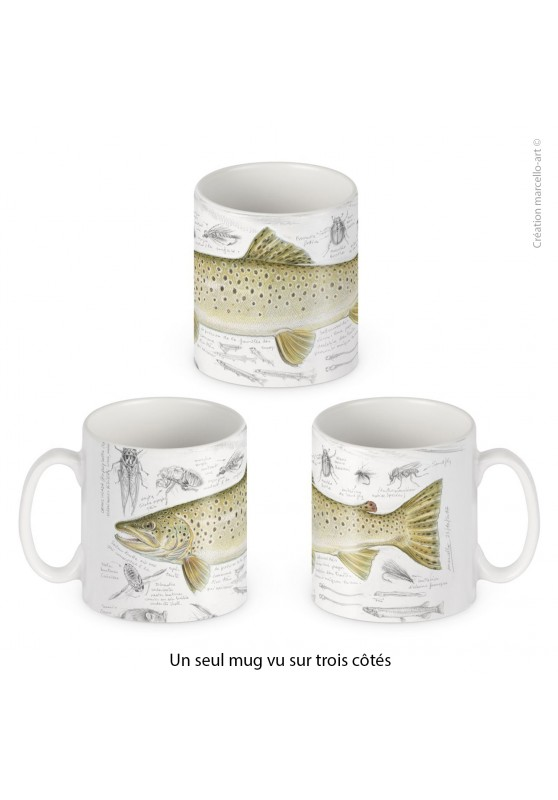 Marcello-art: Decoration accessoiries Porcelain mug 372 brown trout