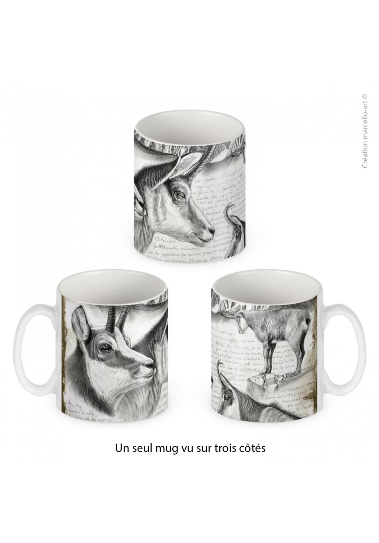 Marcello-art : Accessoires de décoration Mug porcelaine 349 chamois