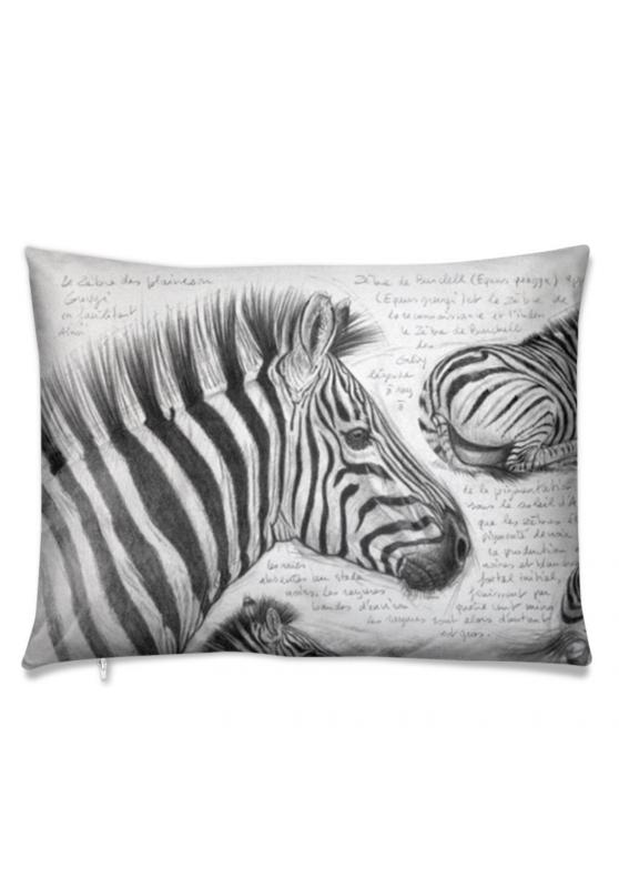 Marcello-art: Fashion accessory Cushion 403 Equus Quagga black head