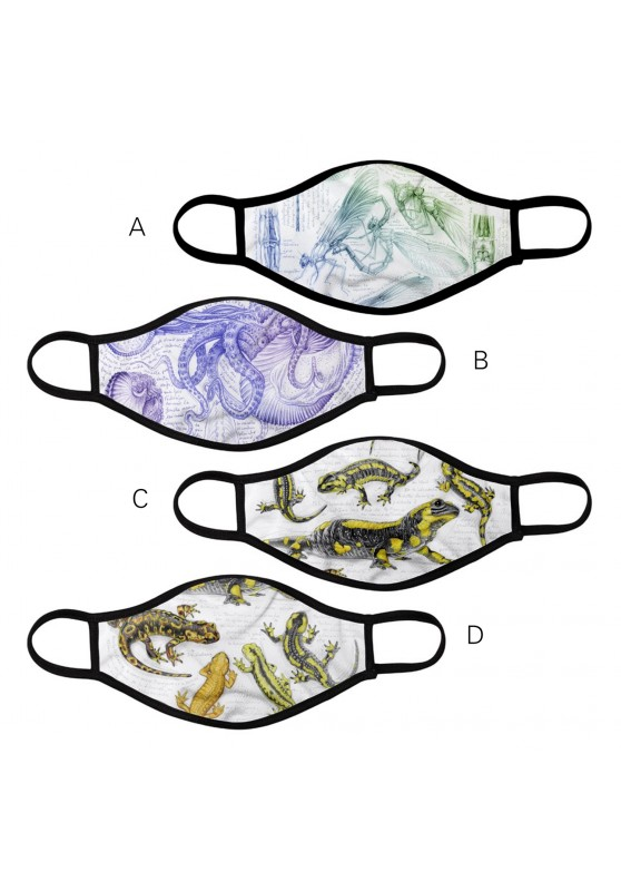 Marcello-art: Mask Mask 383-255 - Salamander & calopteryx