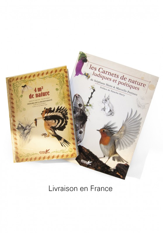 Marcello-art: Books Duo 4m² of nature - Playful and Poetic Nature Notebooks delivery france