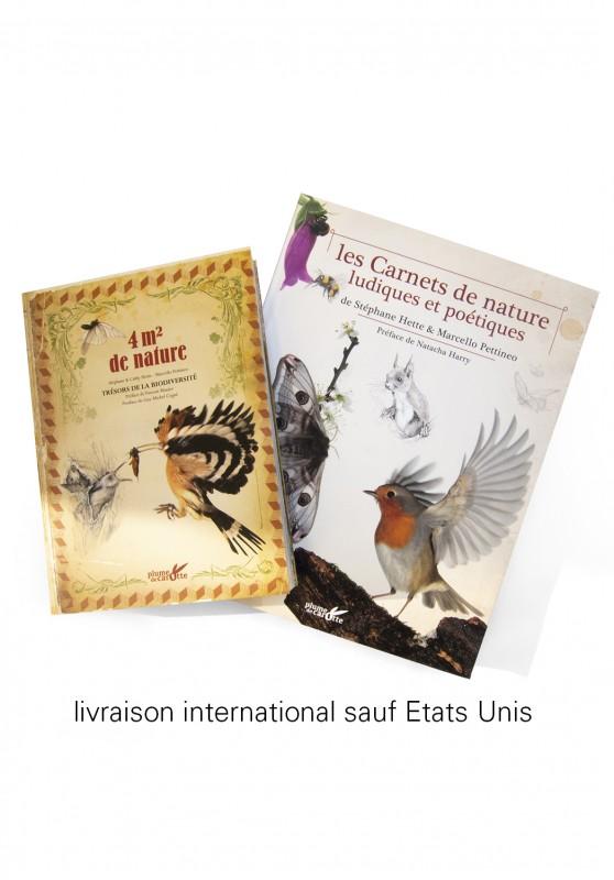 Marcello-art : Livres Duo 4m² de nature - Les Carnets de Nature Ludiques et Poétiques livraison international