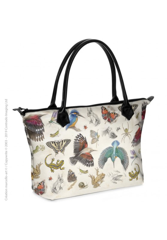 Marcello-art: Fashion accessory Zipped bag 422 naturalist