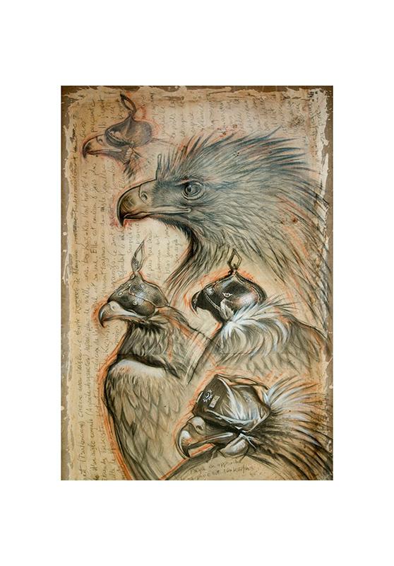 Marcello-art: Wish Card 105 - Sayat, eagle hunting