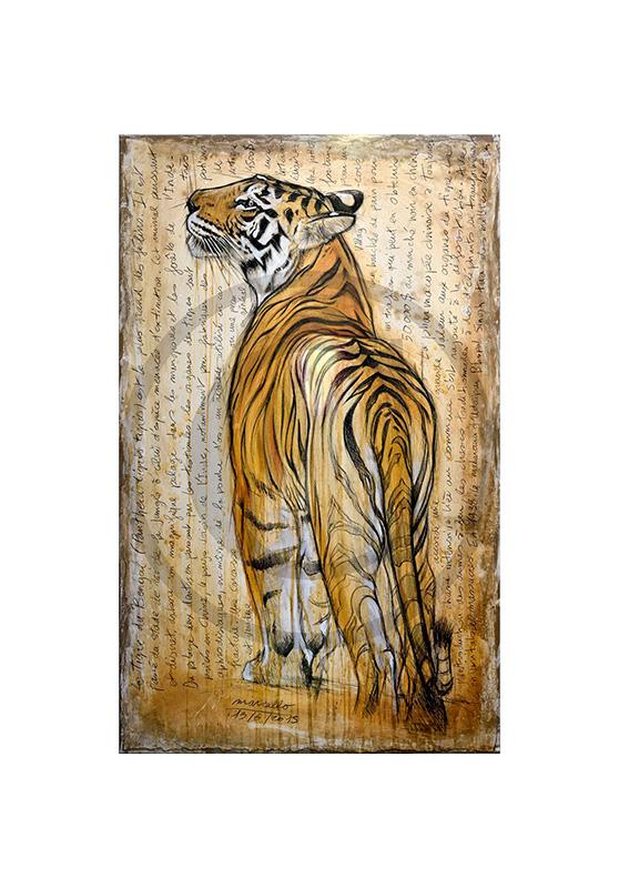 Marcello-art: Wish Card 298 - Bengal tiger