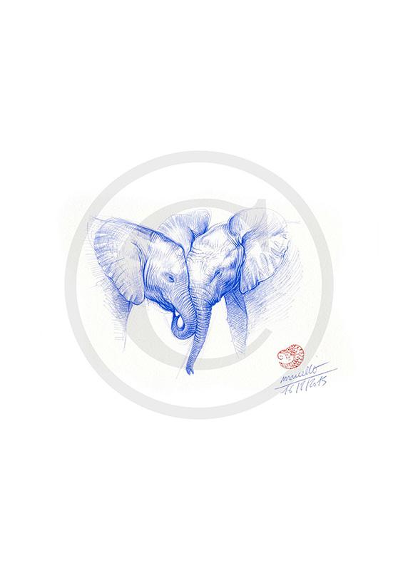 Marcello-art: Wish Card 313 - Baby elephant